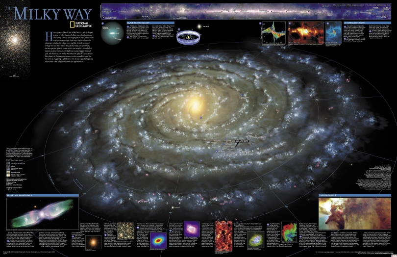 Hundreds of millions of stars are contained in The Milky Way.