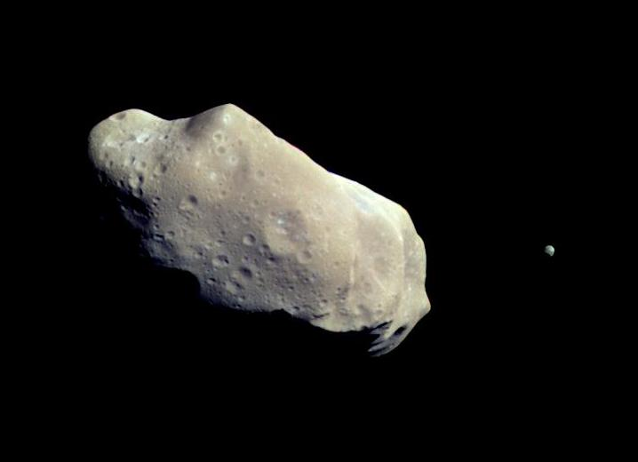 Ida and its Moon, Dactyl. Dactyl is the first astellite of an asteroid to be discovered.