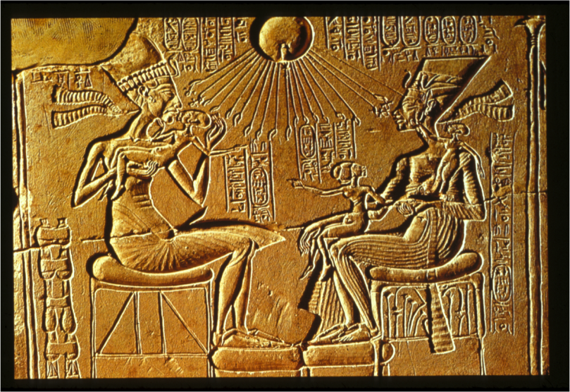 Together Akhenaten and Nefertiti transformed the religious practices of ancient Egyptian society.